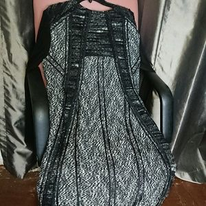 Donna Karan dress M Italy tweed jersey zippered